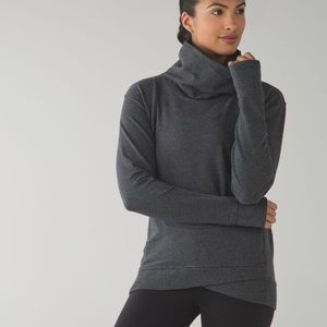 Lululemon On the double Heather gray pullover